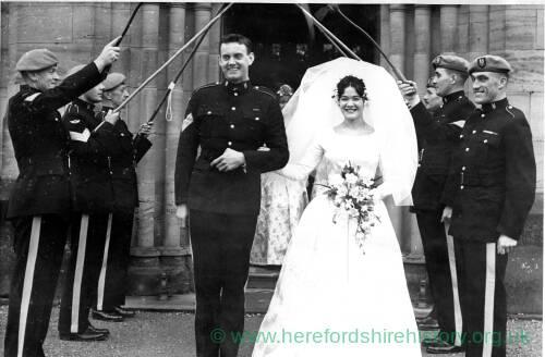 The wedding of SAS parachutist Pete Sherman.