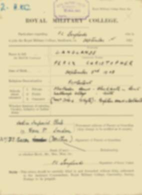 RMC Form 18A Personal Detail Sheets Feb & Sept 1922 Intake - page 85