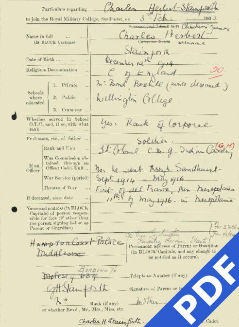 RMC Form 18A Personal Detail Sheets Feb & Sept 1933 Intake - page 125