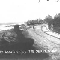 Coastal erosion, Blundlesands, the Serpentine