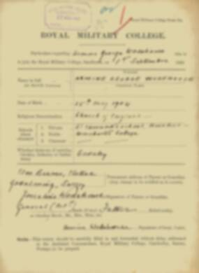 RMC Form 18A Personal Detail Sheets Feb & Sept 1922 Intake - page 318