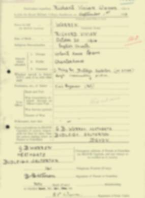 RMC Form 18A Personal Detail Sheets Feb & Sept 1933 Intake - page 304