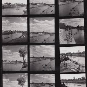 A contact sheet of Hereford regatta, 1960.