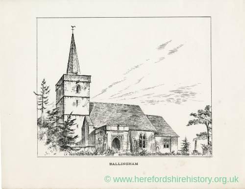 Ballingham Church, Herefordshire, print