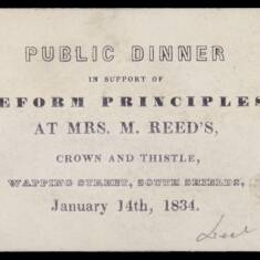 Public Dinner in Support of Reform Principles