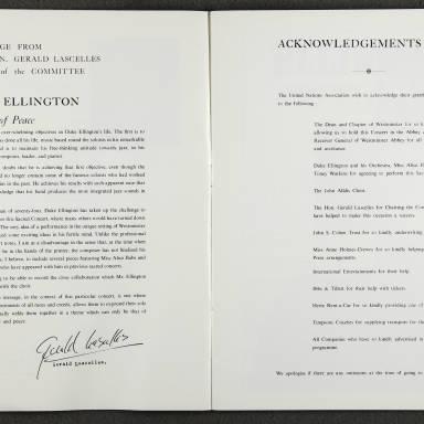 Duke Ellington Orchestra 'Sacred Concert' – Westminster  Abbey 24th   October 1973 008