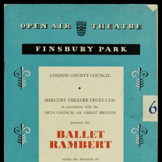 Finsbury Park Open Air Theatre, London, June 1953