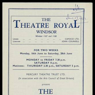 Theatre Royal, Windsor, June 1952 - P01