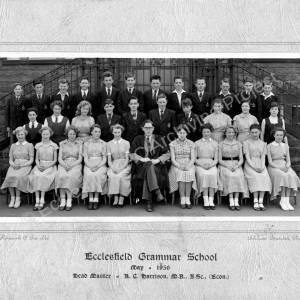 Ecclesfield Grammar School Class Photo 1956