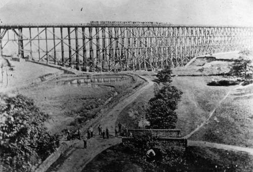 049 The original wooden viaduct