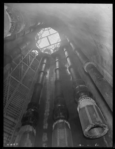 "102"" diam. Thames Tunnel, Lockwood Reservoir shaft"
