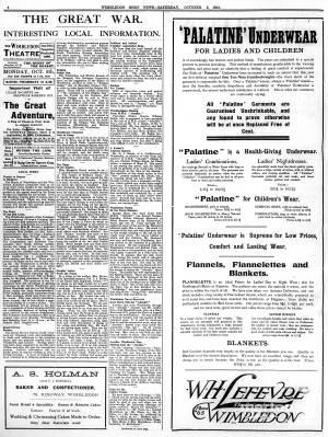 3 OCTOBER 1914