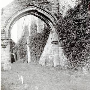 Abbey Dore, Abbey exterior arch of nave