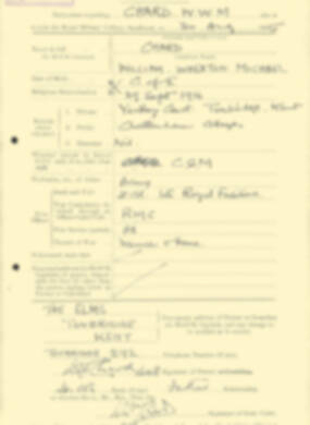 RMC Form 18A Personal Detail Sheets Aug 1935 Intake - page 41