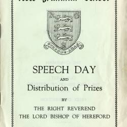 Ross Grammar School speech day and presentation of prizes, Monday 17th May 1971