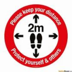 2020 Keep Your Distance Poster 6ft or 2 metres