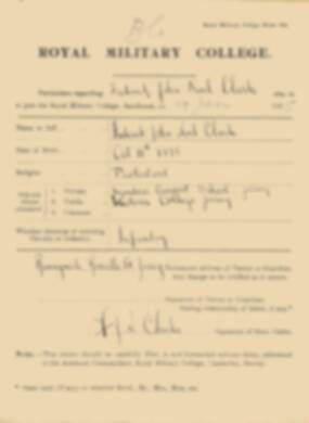RMC Form 18A Personal Detail Sheets Jan 1915 Intake - page 77