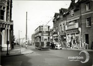 Trams, Merton High Street with Tram no: 1836