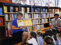 Mitcham Library: Shirley reading stories