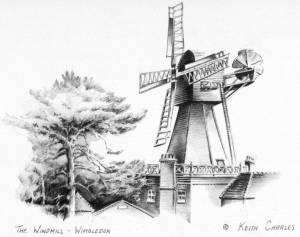 Sketch of the windmill, Wimbledon Common