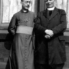 Bishop Thorman and Fr Bradley of St. Peter and Paul's