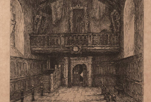 Interior of the Guildhall, c1900, Exeter