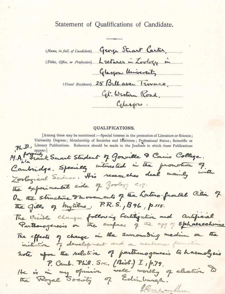 00A Carter FRSE Proposal Form 9 Mar 1925-2.jpg