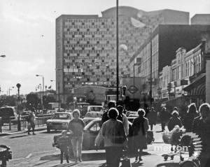 London Road, Morden: Looking towards Crown House