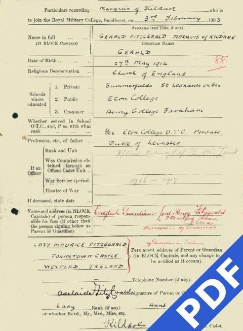 RMC Form 18A Personal Detail Sheets Feb & Sept 1933 Intake - page 81