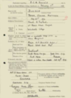 RMC Form 18A Personal Detail Sheets Feb & Sept 1933 Intake - page 22