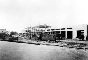 Construction of Morden Underground Station, London Road
