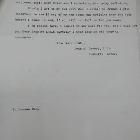 Letter 2 - From Ivan A. Jacobs to Walter Dowson Part 2