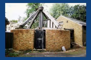 Mitcham Windmill following renewal of the walls