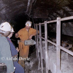 Underground Conveyor Belt Alighting Place