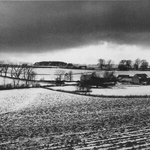 "640 - Winter Fields and farm in the ""Cotswolds"""