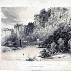 Coldwell Rocks, Whitchurch, Herefordshire, print 1841