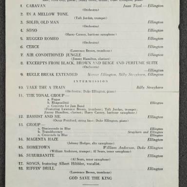 Duke Ellington Orchestra Concert – Massey Hall, Toronto December 27th 1945 001