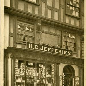 John Kyrle House, Ross-on-Wye in 1911. H. C. Jefferies is the shop at the time