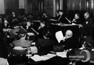 Merton and Morden Urban District Council: Meeting at Morden Hall