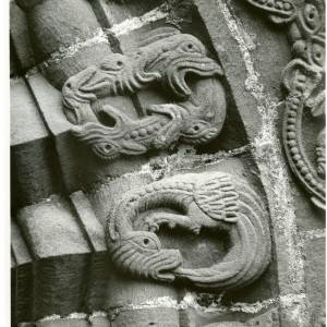Kilpeck Church, south door, carving