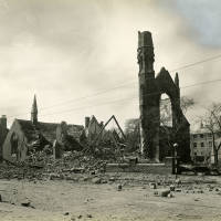 Welsh Chapel, bomb damage, Blitz