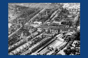 Wimbledon: Aerial View centred on Ely's