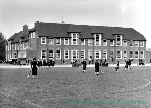 The old Bluecoat School for Girls, Hereford.