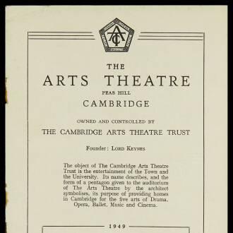 Arts Theatre, Cambridge, November 1949