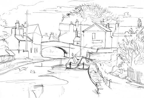 Lymm Bridge and Canal By Dorothea Rowlinson