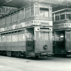 Trams 42 and 23 in Car Cheds in Dean Road