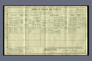 1911 Census - 22 West Place, Wimbledon Common