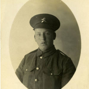 Billy Dawe portrait in uniform