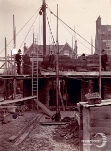 Queens Road: Construction of Wimbledon Fire Station