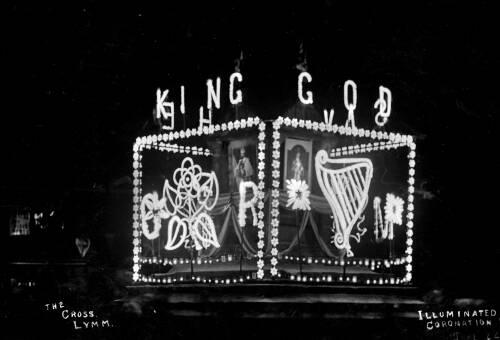Illuminated Lymm Cross, 1911